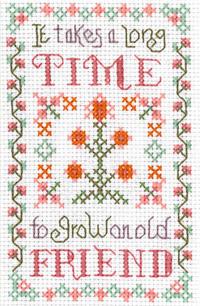 mini Friends sampler cross stitch