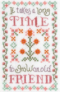 mini Friends sampler cross stitch