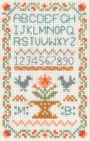 mini traditional ABC sampler cross stitch