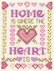 Home is where the Heart is cross stitch