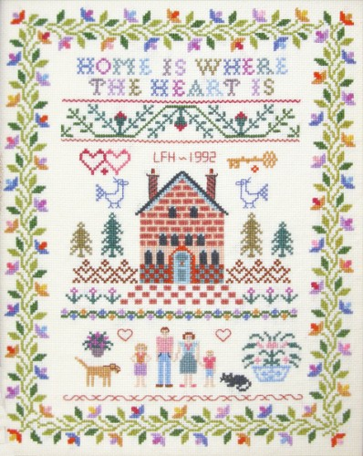 Home is where the Heart is sampler cross stitch