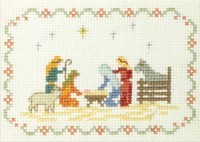 Mini Nativity Sampler cross stitch kit