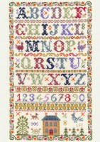Traditional Alphabet sampler cross stitch kit