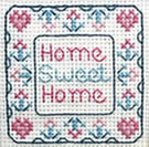Miniature Home Sweet Home sampler cross stitch chart