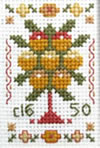 Miniature Tree sampler cross stitch kit or chart