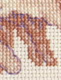 detail of Michaelangelo's Creation sampler cross stitch kit