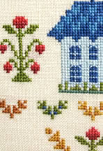 traditional sampler detail