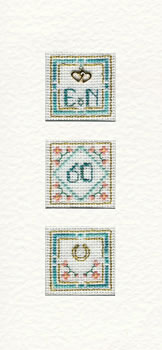 Window 60th Anniversary card cross stitch kit