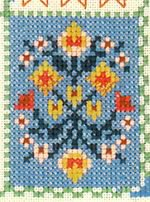 detail american wisdom cross stitch sampler