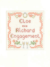mini engagement card cross stitch kit
