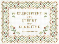 engagement sampler cross stitch kit