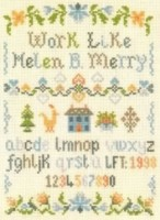 ABC saying sampler cross stitch
