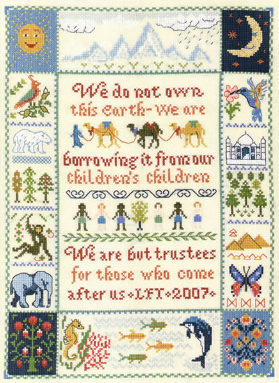 Native American wisdom verse cross stitch kit