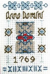 Tiny Anno Domini sampler cross stitch kit