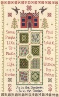 Garden sampler cross stitch kit