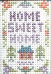 Miniature cottage Home sweet Home sampler