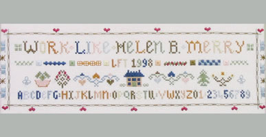 ABC sampler cross stitch kit