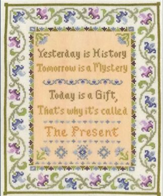 The Present sampler cross stitch