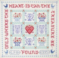 cross stitch treasure sampler kit