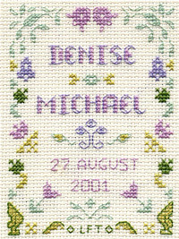 Mini Wedding Sampler cross stitch kit