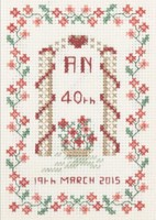 small 40th Anniversary Sampler cross stitch kit