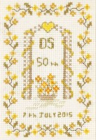 Small 50th Anniversary Sampler cross stitch kit