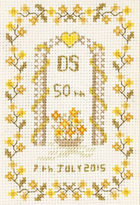 petite 50th Anniversary Sampler cross stitch kit