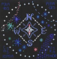 cross stitch Star Compass sampler chart