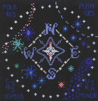 cross stitch Star Compass sampler chart