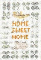 small Home Sweet Home sampler cross stitch kit