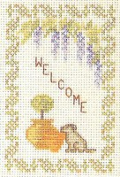 welcome sampler cross stitch kit
