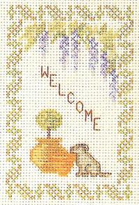 welcome sampler cross stitch kit