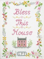 Bless This House sampler cross stitch kit