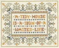 Funny saying sampler cross stitch