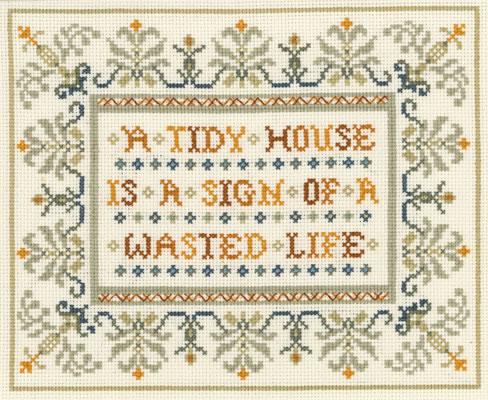 Funny saying sampler cross stitch