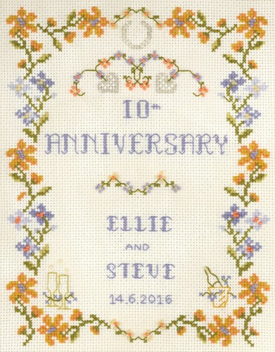 Amber Wedding Anniversary cross stitch