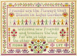 Friendship sampler cross stitch