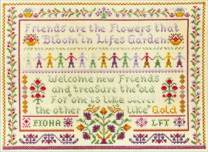 Friendship sampler cross stitch