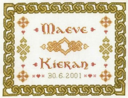 celtic wedding sampler cross stitch kit