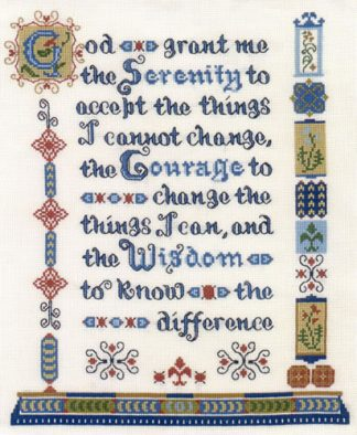 Serenity Prayer cross stitch kit