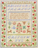 Native American wisdom sampler cross stitch