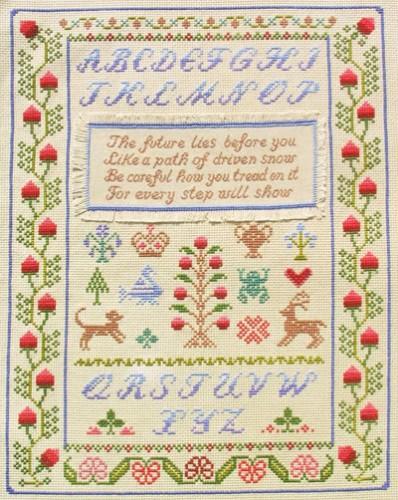 Native American wisdom sampler cross stitch