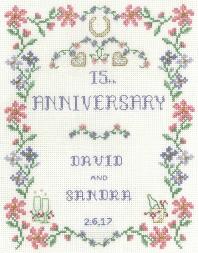 Pastel Wedding Anniversary cross stitch kit