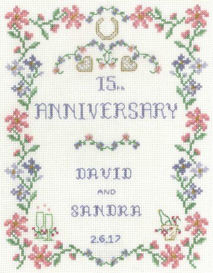 Pastel Wedding Anniversary cross stitch kit