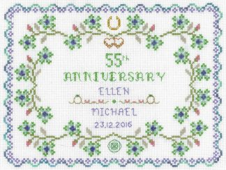 55th Wedding Anniversary Sampler cross stitch