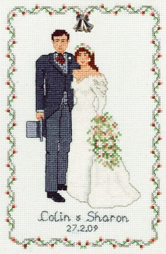 Bride and groom wedding sampleR
