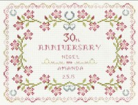 30th wedding anniversary cross stitch kit