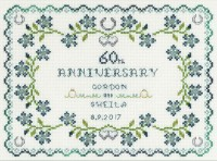 60th Wedding Anniversary Sampler cross stitch