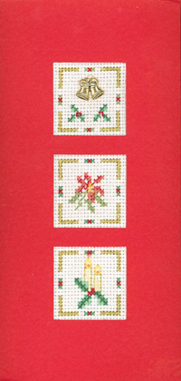 Holly Christmas card cross stitch