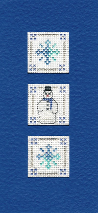 Snowflakes Christmas card cross stitch kit